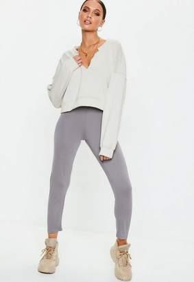 Missguided Grey Full Length Leggings