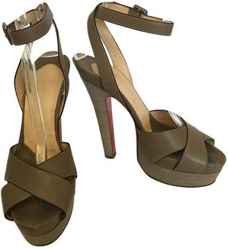Christian Louboutin Grey Leather Sandals