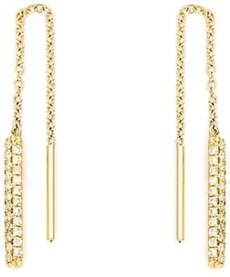 Ileana Makri diamond drop chain earrings