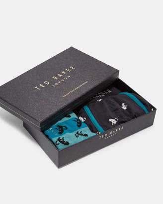 Ted Baker FRELD Monkey print boxers and sock set