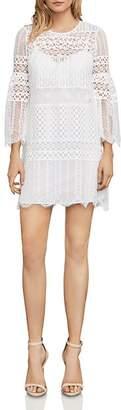 BCBGMAXAZRIA Bell Sleeve Lace Dress