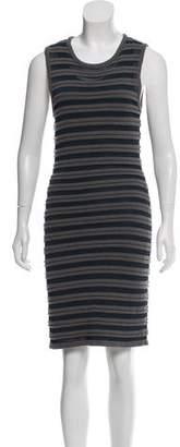Yigal Azrouel Cut25 by Striped Midi Dress w/ Tags