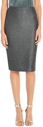 St. John Spark Sequin Knit Pencil Skirt