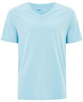 Topman Mens Blue Slim V-Neck T-Shirt
