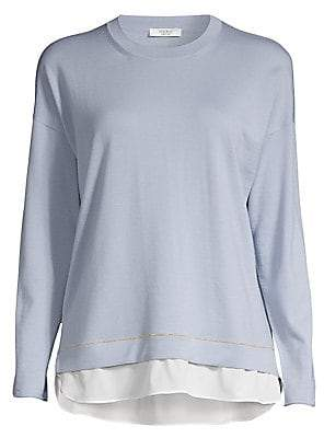 Peserico Layered Wool Sweater