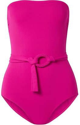 Eres Studio Expo Belted Bandeau Swimsuit - Fuchsia