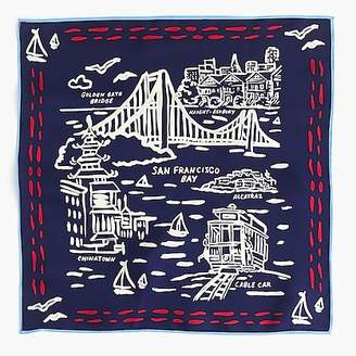 J.Crew Destination Italian silk scarf in San Francisco