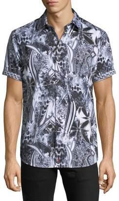 Robert Graham Men's Classic Fit Large-Paisley Short-Sleeve Sport Shirt