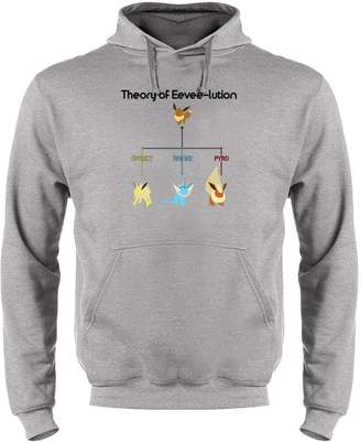 Theory Pop Threads of Eevee-lution XL Mens Fleece Hoodie Sweatshirt