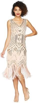 Unique Vintage Veronique Fringe Flapper Dress Women's Dress