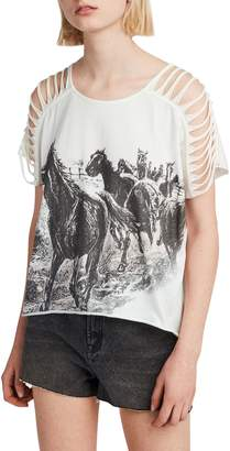 AllSaints Riders Slash Shoulder Tee