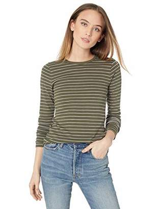 Three Dots Women's AU2652 Autumn Stripe l/s Crewneck