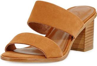 Joie Maha Nubuck 70mm Mule Sandal $298 thestylecure.com
