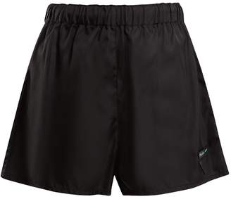 High-rise nylon shorts