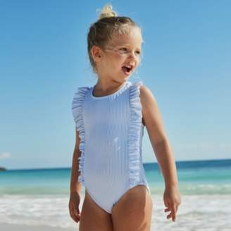 The White Company Frill Stripe Swimsuit (2-6yrs)