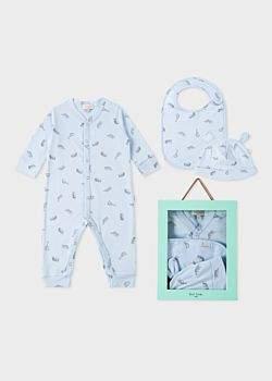 Paul Smith Baby Boys' Light Blue 'Safari Animals' Playwear Set