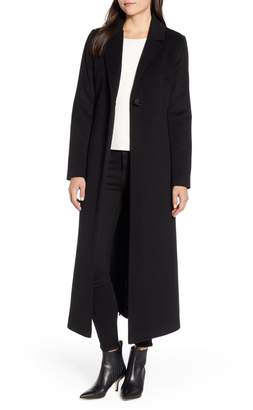 Sam Edelman Wool Blend Maxi Reefer Coat