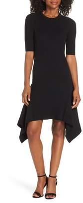 Vince Camuto Rib Knit Fit & Flare Dress