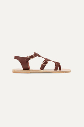 Ancient Greek Sandals Grace Kelly Leather Sandals - Chocolate
