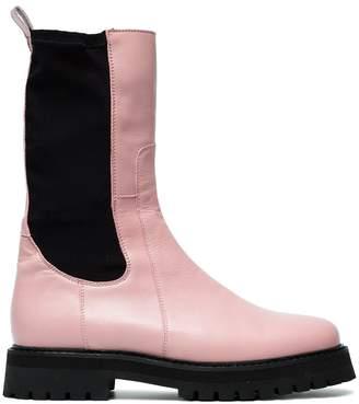 Marques Almeida Marques'almeida Pink Klara Leather army boots
