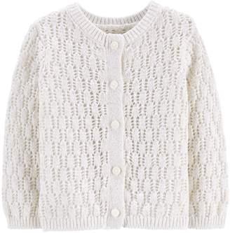 Osh Kosh Oshkosh Bgosh Baby Girl Pointelle Cardigan Sweater