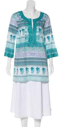 Calypso Pattern Long Sleeve Tunic