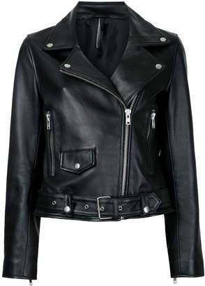 Nobody Denim Biker Leather Jacket