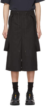 D.gnak By Kang.d Black Side Attaching Shorts