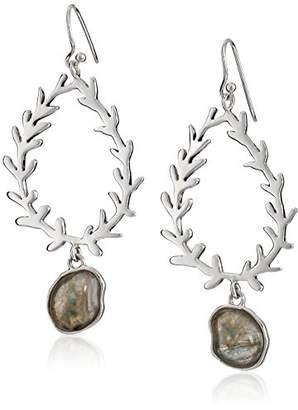 Barse Sterling Silver Labradorite Statement Drop Earrings
