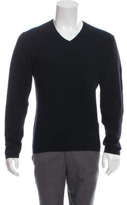 John Varvatos Wool-Blend V-Neck Sweater navy Wool-Blend V-Neck Sweater
