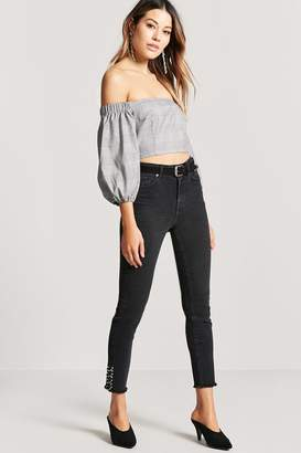 Forever 21 O-Ring Accent Skinny Jeans