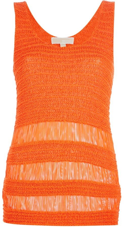 MICHAEL Michael Kors fringed knit tank top