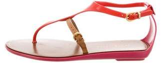 Sergio Rossi Buckle Thong Sandals