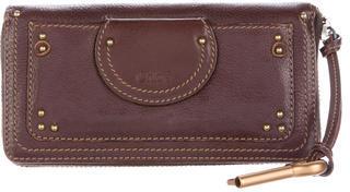 Chloé Chloé Leather Zip Wallet