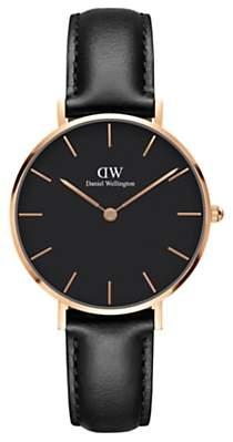 Daniel Wellington Women's Petite Leather Strap Watch