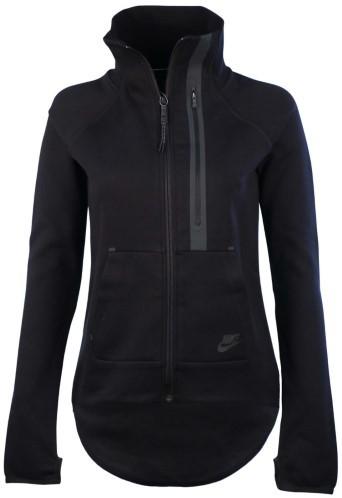 Nike Women's Tech Fleece Moto Cape Jacket, Black, Small