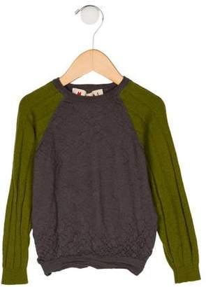 Marni Junior Boys' Knit Long Sleeve Sweater