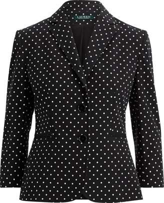 Lauren Ralph Lauren Ralph Lauren Polka-Dot Stretch Twill Jacket