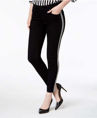 INC International Concepts I.n.c. Racing-Stripe Skinny Jeans, Created for Macy's