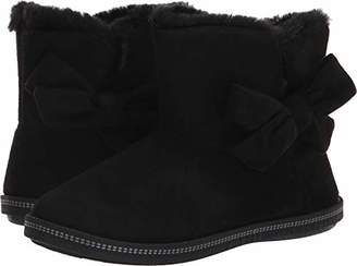 Skechers Women's Cozy Campfire - Microfiber Slipper Boot with Bow