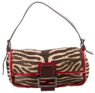 Fendi Embroidered Baguette Bag