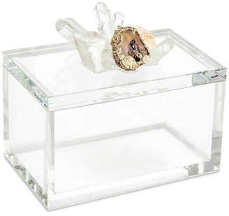 "John-Richard Collection John Richard 8"" Starr Quartz Box - Clear/Gold"
