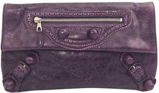Balenciaga Envelop leather clutch bag