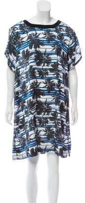 L'Agence Short- Sleeve Mini Dress