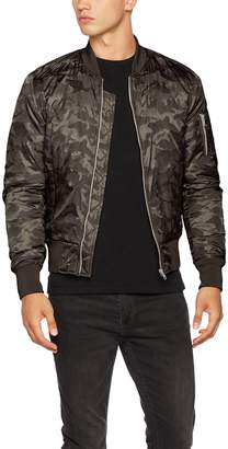 Urban Classics Mens Bomber Jacket TB1621 Tonal Camo Bomber Jacket Color: in Size: