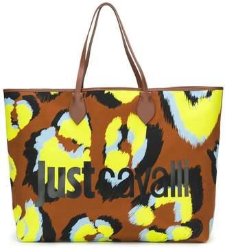 Just Cavalli oversized logo tote bag