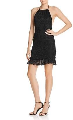 Nightcap Clothing Jungle Lace Halter Mini Dress