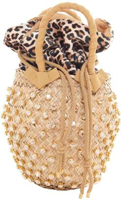 Le Nine Nina Small Leopard Bucket Bag