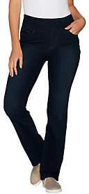 "Denim & Co. How Smooth"" Petite 5-Pckt SlightlyBootcut Jeans"