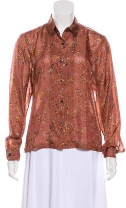 Dries Van Noten Silk Splatter Blouse